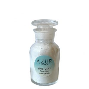 Blue Clay Mask in Refillable Glass Apothecary Jar